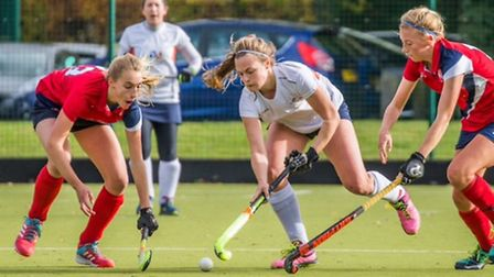St Albans' Katy Hart in action against Cambridge. Picture: CHRIS HOBSON