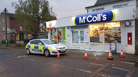 The newsagent in Queens Road, Royston, was targeted by thieves. Picture: Hywel Barrett