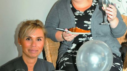 Patricia Bielecka, left, with Lysa Kemp at the fundraiser. Picture: Clive Porter