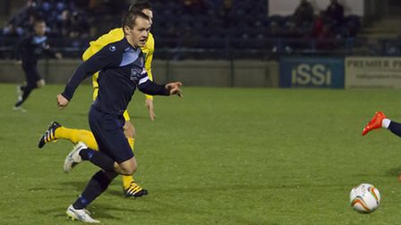 Micky Hyem in action for St Neots as they lost to Banbury on Tuesday night. Picture: CLAIRE HOWES