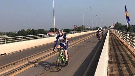 Graeme cycled fromLaos to Cambodia in aid of charity.