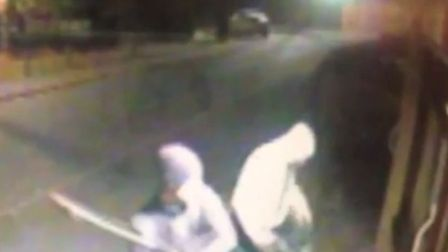 The two men police would like to speak to in connection with the incident.