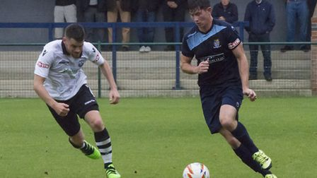 Taylor Parr hit St Neots Town's winner in the FA Trophy. Picture: CLAIRE HOWES