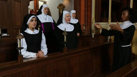 Lizzie Tatton as Sister Mary Robert, Charlotte Gregory as Mother Superior, Mary Watkinson as Sister