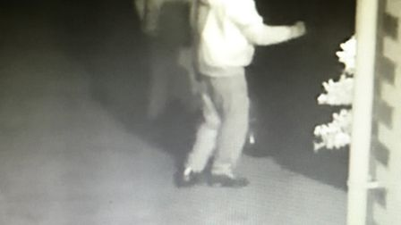 Two men were caught on camera trying to break into a car in Harpenden