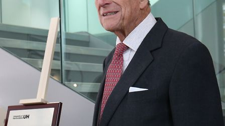 Prince Philip the Duke of Edinburgh at the opening of the new science building at the University of