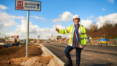 Thomas Sawyer Way in Watford will open to the public from November 16, 2016. Baroness Dorothy Thornh