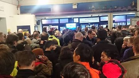 Commuters at St Albans station have endured chaos this morning (Wednesday)