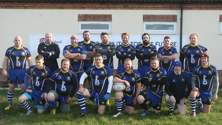 St Ives 2nd XV are back row, left to right, Rob Olivier, Matt Margetts, Pete Wood-Eeles, Tim Lumley-