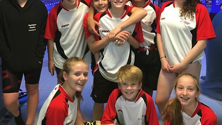 Huntingdon Piranhas swimmers who impressed at the Flitwick Open.