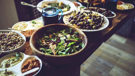 A buffet of food - how much will go to waste?