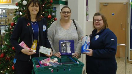 Royston Tesco community champion Mandy Jinkerson, Jackie Ives and Lisa Moore.