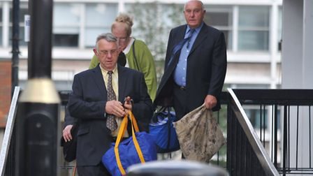 Patrick Smith, Julie Smith and Edward Smith leave St Albans Magistrates court.