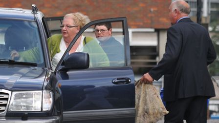 Julie Smith, Michael Morley and Edward Smith leave St Albans Magistrates court.