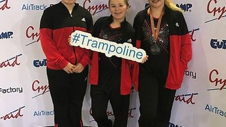 Rotations Club members who competed in the National League Finals are, from the left, Katie Marson,