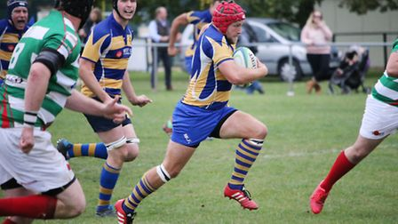 Jeremy Walmsley scored one of three St Albans tries against Grasshoppers. Picture: KEVIN LINES