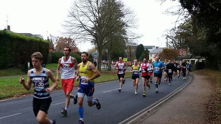Two St Albans Striders' club records were broken at the Hatfield five mile. Picture: L.HUSSEY