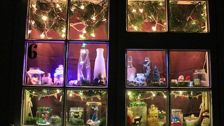 The festive window for December 6. Picture: Alex Pinzon