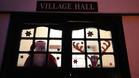 Abington Pigotts Village Hall was the setting for the December 4 window. Picture: Alex Pinzon