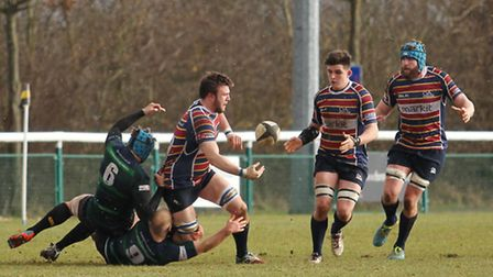 Nick Stevens scored one of three OAs tries against Ampthill. Picture: DANNY LOO