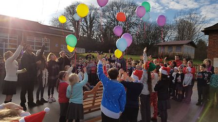 Garden Fields JMI School in St Albans, as part of its Christmas Jumper Day, held a memorial for Mais
