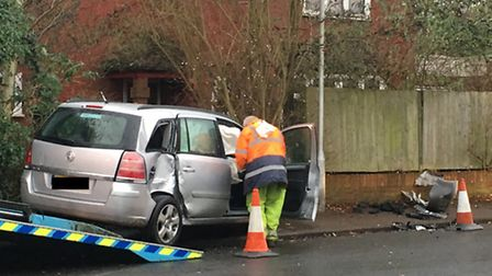 Two people were taken to hospital after being treated at the scene