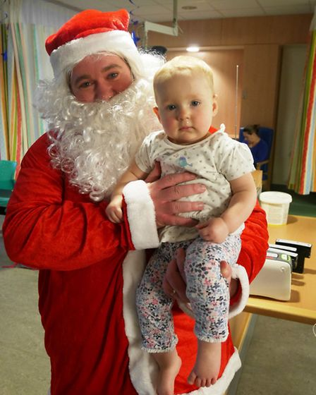 Zoe Cole-Wilkin with Father Christmas