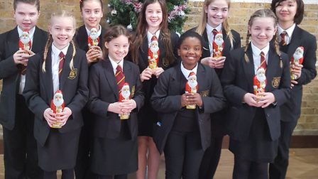 Students from Bassingbourn Village College were set a challenge to make decorations from natural or