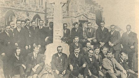 As part of the project, the group are going to recreate this photo taken in 1921 at the war memorial