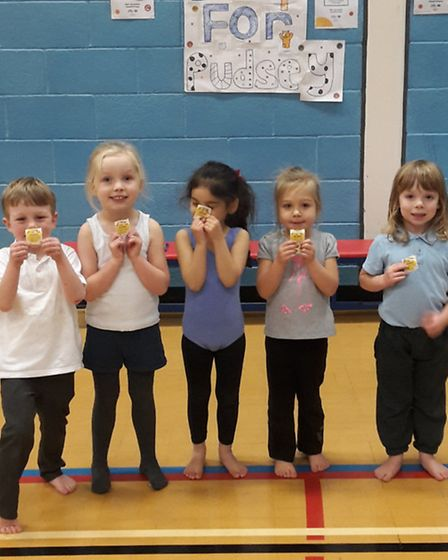The youngest gymnast group.