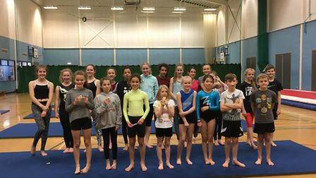 Gymnast groups from Royston Leisure Centre.