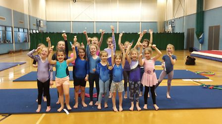Gymnast groups jumped at the chance to help raise money for charity.