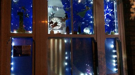 The first of this year's St Albans Living Advent windows