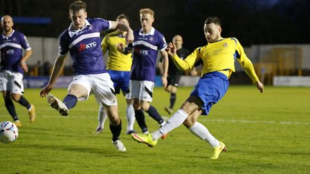 Louie Theophanous scored at Clarence Park against Margate last season. Picture: LEIGH PAGE