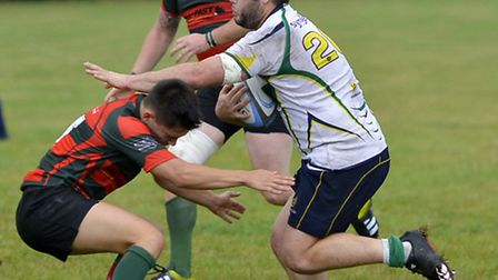 Glen McIntyre scored one of the Huntingdon tries in their victory against Melton Mowbray.