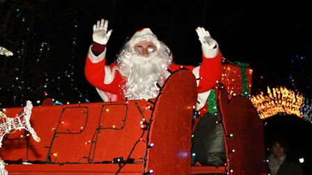 Santa went along to the Baxter's Christmas lights swtich-on. Picture: Clive Porter