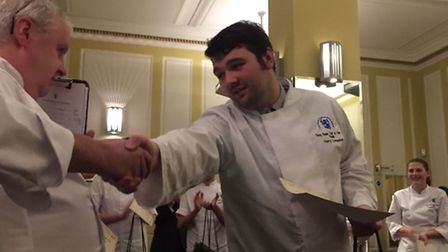 Harry Lumsdon (right) was crowned Young Master Chef of the Year in the Young Master Chef of Great Br