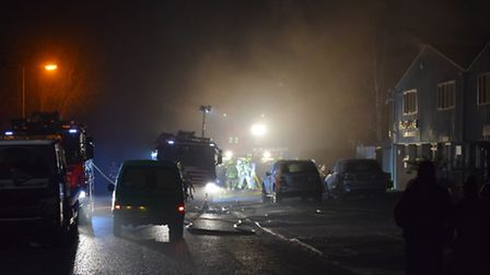 Fire at Fastlane Auto Repairs in Valley Road, St Albans - pictures courtesy Richard Holt.
