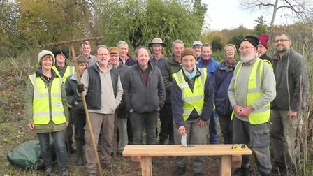 Ver Valley Society volunteers at Sopwell Nunnery Open Space, to take part in Sustainable St Albans W