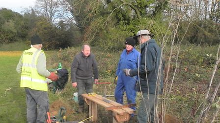 Ver Valley Society at Sopwell Nunnery Open Space, to take part in Sustainable St Albans Week: 40th a