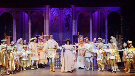 Snow White and Prince Charming in St Albans pantomime Snow White and the Seven Dwarfs at The Alban A