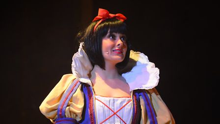Snow White, played by Lauren Cocoracchio, in St Albans pantomime Snow White and the Seven Dwarfs at