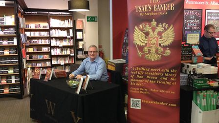 Stephen at his book signing at Waterstones, St Albans