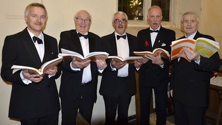Royston Choral Society members raised money for Movember. Picture: Terry Hartga