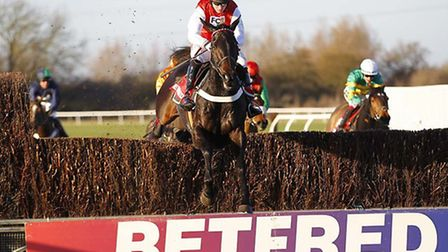 Josses Hill on the way to victory in the big Betfred Peterborough Chase at Huntingdon. Picture: STEP