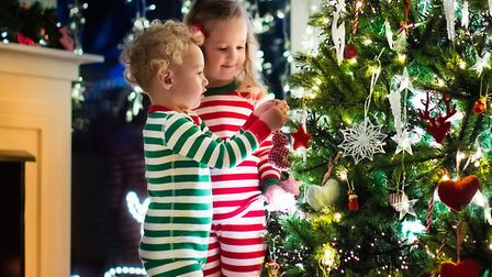 The kids love to 'help' decorate the tree