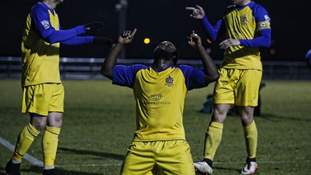 Junior Morias, who scored against Margate at the weekend, has been the focus of transfer speculation