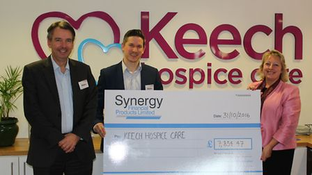 Left to right: Compliance officer of Synergy, Mark Turner, Ben Pears, chief executive of Synergy and
