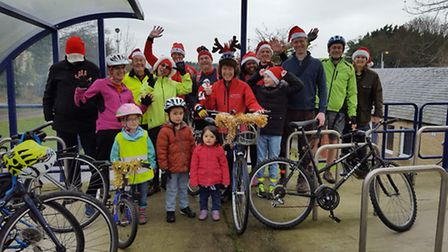 The A10 Corridor Cycle Campaign group dressed up for their second annual Santa Cycle Ride.