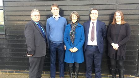 Councillors Tony Hunter, Aidan Van de Weyer, Susan van de Ven, partnership chief executive Neil Dar